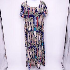 Reyn Spooner Hawaiian Traditionals Maxi Dress